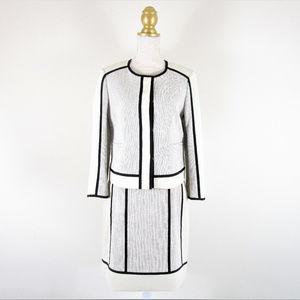 Ann Taylor Career Skirt Suit NWOT Black Cream
